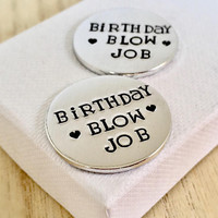 Birthday Blow Job, Rude Gift, Husband Birthday Gift, Love Token, Gifts for Husband, From Wife, Gifts for Boyfriend, Boyfriend Birthday Gift