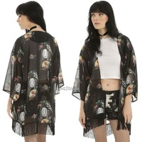 Licensed cool NO FACE Fan Print Sheer Kimono Top Studio Ghibli Her Universe Spirited Away