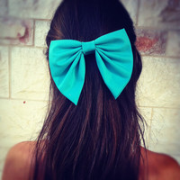 Hair Bow with Rhinestones Large