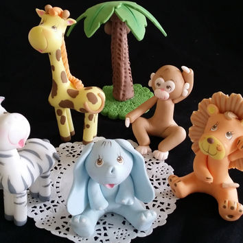Jungle Birthday Cake Topper, Baby Jungle Baby Shower, Jungle Safari Baby Shower, Jungle Baby Shower, Jungle Cake Topper, Baby Shower Decor