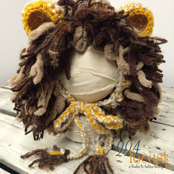 Lion Hat for Baby Halloween, Lion, Hat, Newborn Lion, Baby Lion Hat, Photography Prop, Photo Prop, Newborn Lion, Halloween, Costume