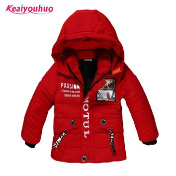 Children Jackets for Boys Clothes 2018 Winter Baby Boy Jackets warm Kids down Coat Boys Outerwear &Coats fashion winter padded