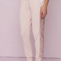 Girlfriend Satin Stripe Jogger