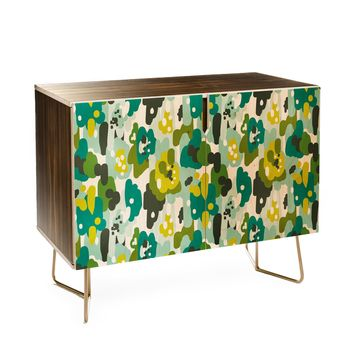 Heather Dutton Painted Camo Credenza