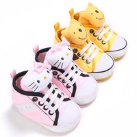 0-2 Year Old Girl First Walkers Baby Shoes Kitty Bear Style Lovely Little Baby Girl Shoes For Kids Chaussure Bebe Baby Moccasins