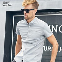 summer short sleeve shirt men solid pocket shirts cotton clothing male casual for men beach shirt clothes
