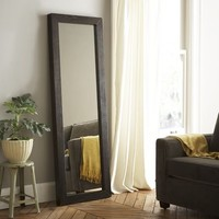 Parsons Floor Mirror - Chocolate-Stained Veneer