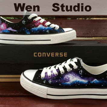 SALE  Galaxy Converse Design Galaxy Shoes Hand Painted Shoes,Converse Shoes,Custom Painted Custom Converse Custom Canvas Shoes Gifts