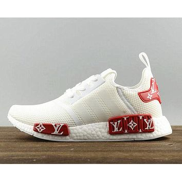 Adidas NMD X LV Women/Men Trending Fashion Casual Running Sport Shoes White red