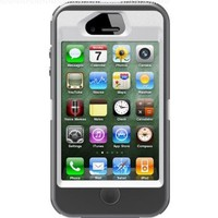 OtterBox Defender Series Case and Holster for iPhone 4/4S - Retail Packaging - White/Gray