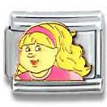 CABBAGE PATCH KIDS Soccer Girl Officially Licensed Italian Charm