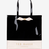 Large color block shopper bag - Black | Bags | Ted Baker