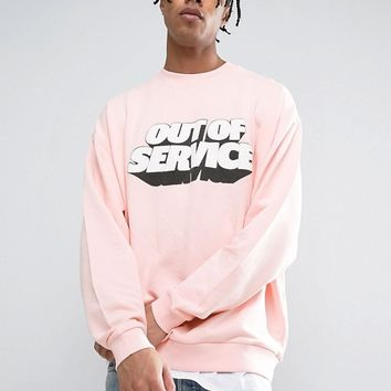 ASOS Oversized Sweatshirt With Print at asos.com