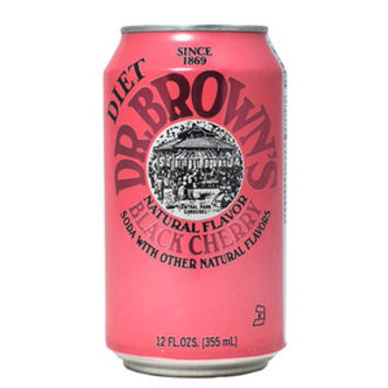 Dr. Browns Diet Black Cherry 12 oz Cans - Case of 24
