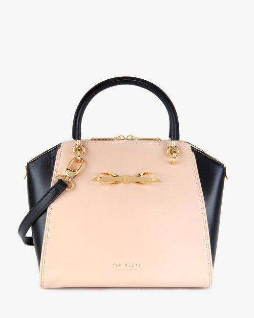 Ted Baker Laukku Stockmann : Slim bow leather tote bag taupe bags from ted baker