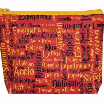 NEW Zippered Bag | Knitting Wedge Bag | Project Bag | Knitting Bag | Harry Potter | Gryffindor | Small Wedge