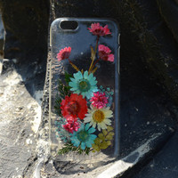 Pressed flower iphpne 6 plus case clear iphone 6 case real dried flower iphone 4/4s/5/5s/5c/6 plus cases cover pressed flower iphone case F2