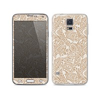 The Tan Abstract Vector Pattern Skin For the Samsung Galaxy S5