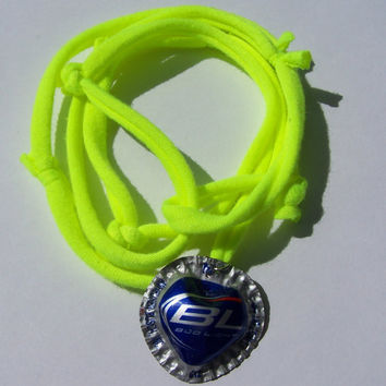 Neon Bud Light Bottle Cap Heart Shape bracelet
