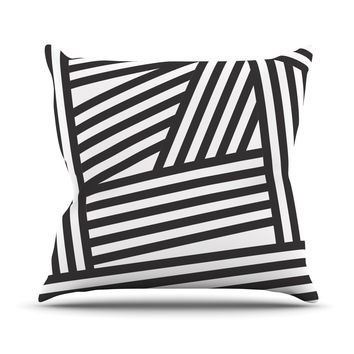 "Louise Machado ""Black Stripes"" Throw Pillow"