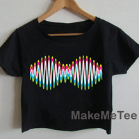 New Arctic Monkeys Band Printed Crop top Tank Top Women Black and White Tee Shirt - MM4