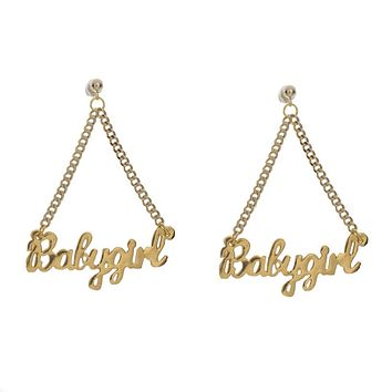 Babygirl Nameplate Earrings