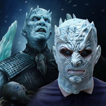 Horror Game Of Thrones Halloween Mask Night's King Walker Face NIGHT RE Zombie Latex Mask Cosplay Throne Costume Party Mask
