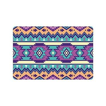 Autumn Fall welcome door mat doormat Warm Tour Ethnic Aztec Anti-slip  Home Decor Purple Bohemian Indoor Outdoor Entrance  Rubber Backing 23.6 X 15.7 AT_76_7