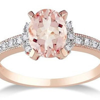 FANCY 3.90CT MORGANITE OVAL CUT 925 STERLING SILVER ENGAGEMENT RING FOR HER