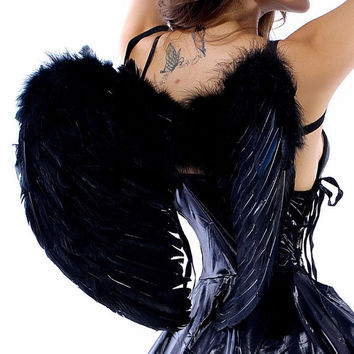 Large 60*45cm Feather Wings for Women Halloween Costume Accessory 3 Colors