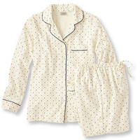 Pima Cotton Flannel PJ Set, Dot: Sleepwear | Free Shipping at L.L.Bean