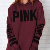PINK Victoria's Secret Fashion Print Long Sleeve Top Sweater Pullover Hoodie
