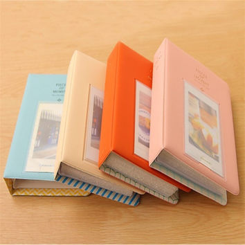 1Pcs Mini Film Instax Polaroid Album Photo Storage Case Fashion Home Family Friends Saving Sweet Memory Souvenir 64 Pockets