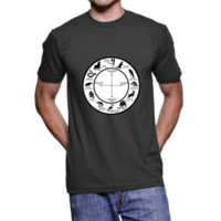 Native American Astrology Chart Tee, American Apparel Unisex Tshirt from Lonely Coyote