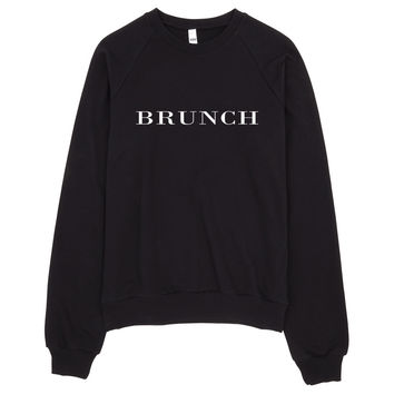 Brunch Brit Typography Sweater