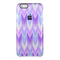 Ikat,tribal,pattern,purple,lavender,pink,white,fun Uncommon Clearly™ Deflector iPhone 6 Case