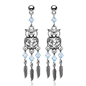 Guardian Owl Dreamcatcher Feather WildKlass Earring