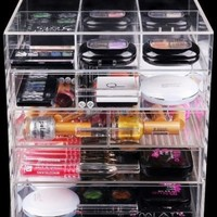 Home Decoration High Quality Handmade Fashional 5 Drawer Clear Acrylic Cosmestic Organizer