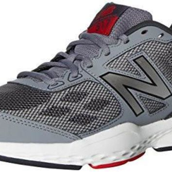 new balance mens mx517v1 cross trainer grey red 10 4e us