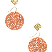 FOREVER 21 Festive Filigree Earring Set Yellow/Orange One