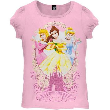 ICIK8UT Disney Princesses Friends Girls Juvy T-Shirt