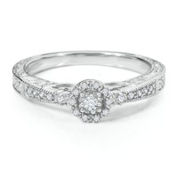 1/10 ct. tw. Diamond Ring in Sterling Silver