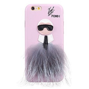 Fendi Karlito Pink Case for iPhone 6/6S 18926688
