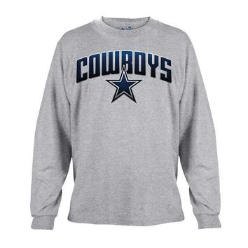Men's Dallas Cowboys Gray Ascender Long Sleeve T-Shirt
