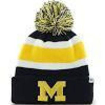 DCCKG8Q NCAA 47 Brand Michigan Wolverines Breakaway Cuff Knit Hat