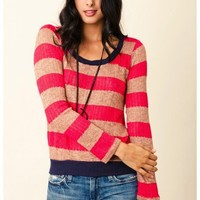 Splendid  - Bristol Stripe Loose Knit Sweater