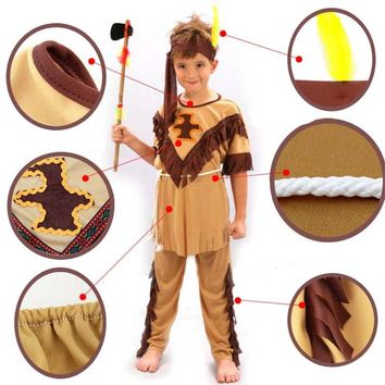 Children Native American Indian Princess Cosplay Costume Soldiers Warrior Costumes Halloween Party Dress Supplies