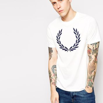 Fred Perry T-Shirt with Laurel Print