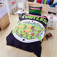 New Ninja Turtle Bedding Duvet Cover TMNT Bedding Soft Funny Bedding Gift for Teenage Kids Twin/Full/Queen