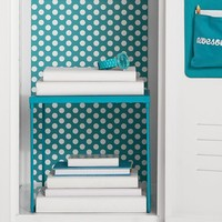 Teal Dottie Locker Wallpaper
